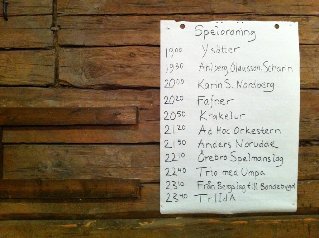 FelanFestival 20120211 Spelordning