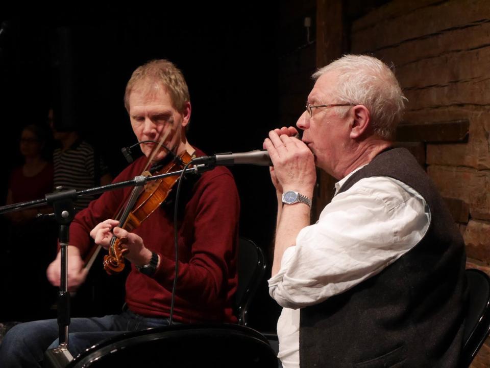 Felan 20140325 Ulf Karlsson och Magnus Thörnblad, pausmusiker