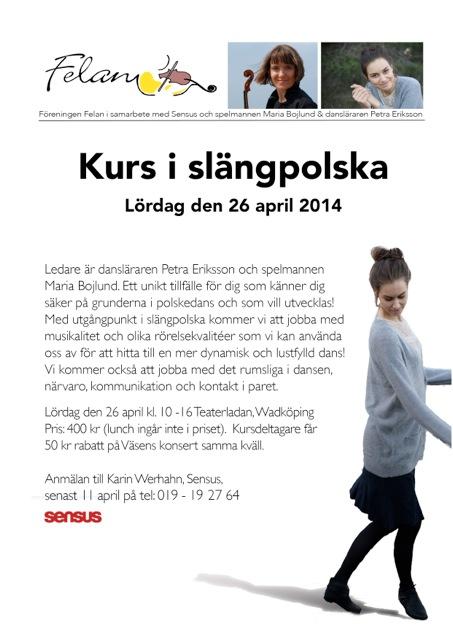 Felan reklamblad danskurs 2014