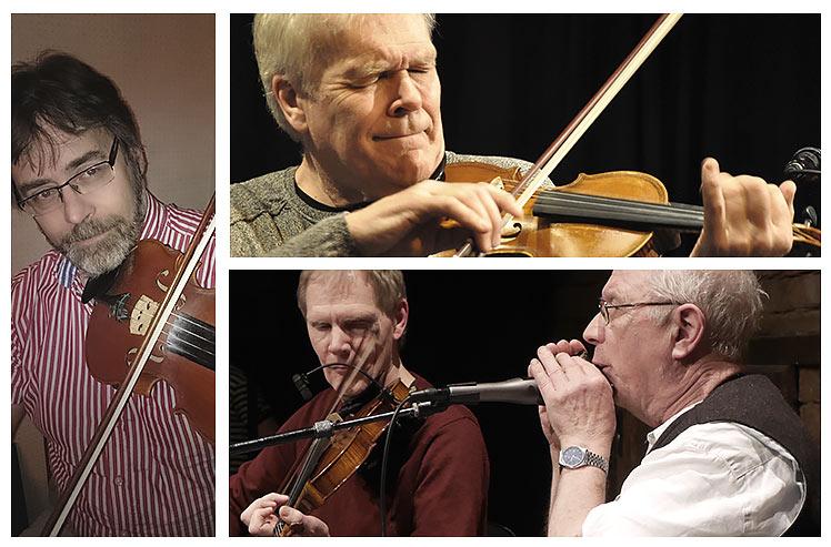 Anders Nordlöf – fiol / Mats Berglund – fiol / Ulf Karlsson – fiol / Magnus Thörnblad – munspel